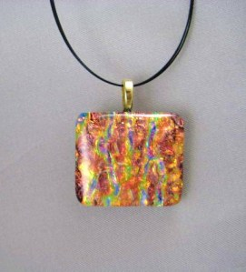 Autumn Orange Dichroic Pendant