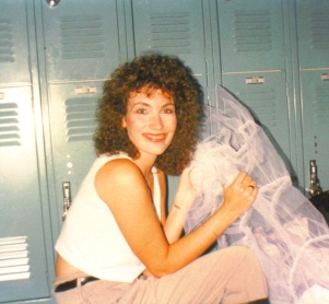 sheila preparing for ERAU play 1990.jpg