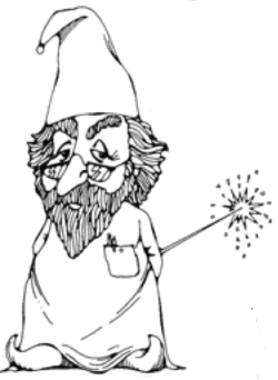 wizard drawing by Richard