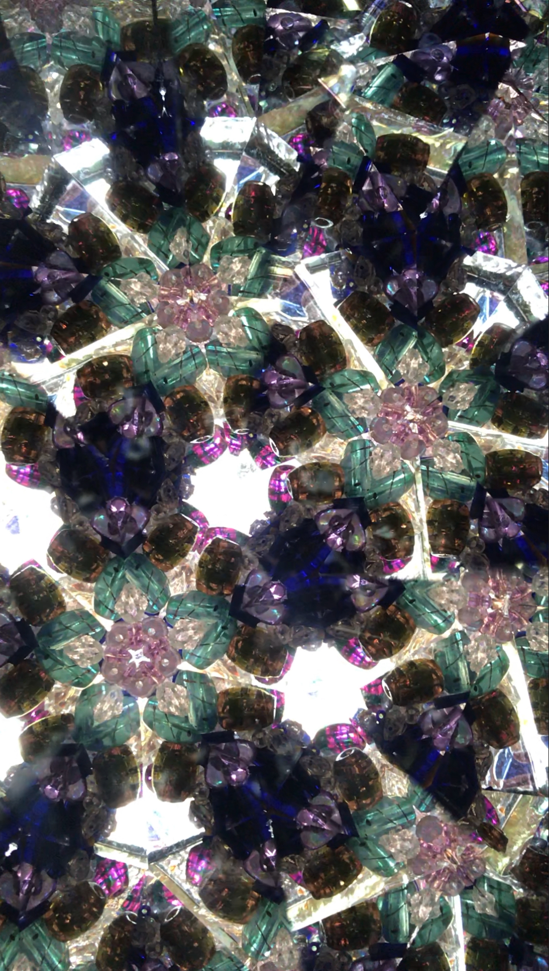 fuschia teal dark blue kaleidoscope