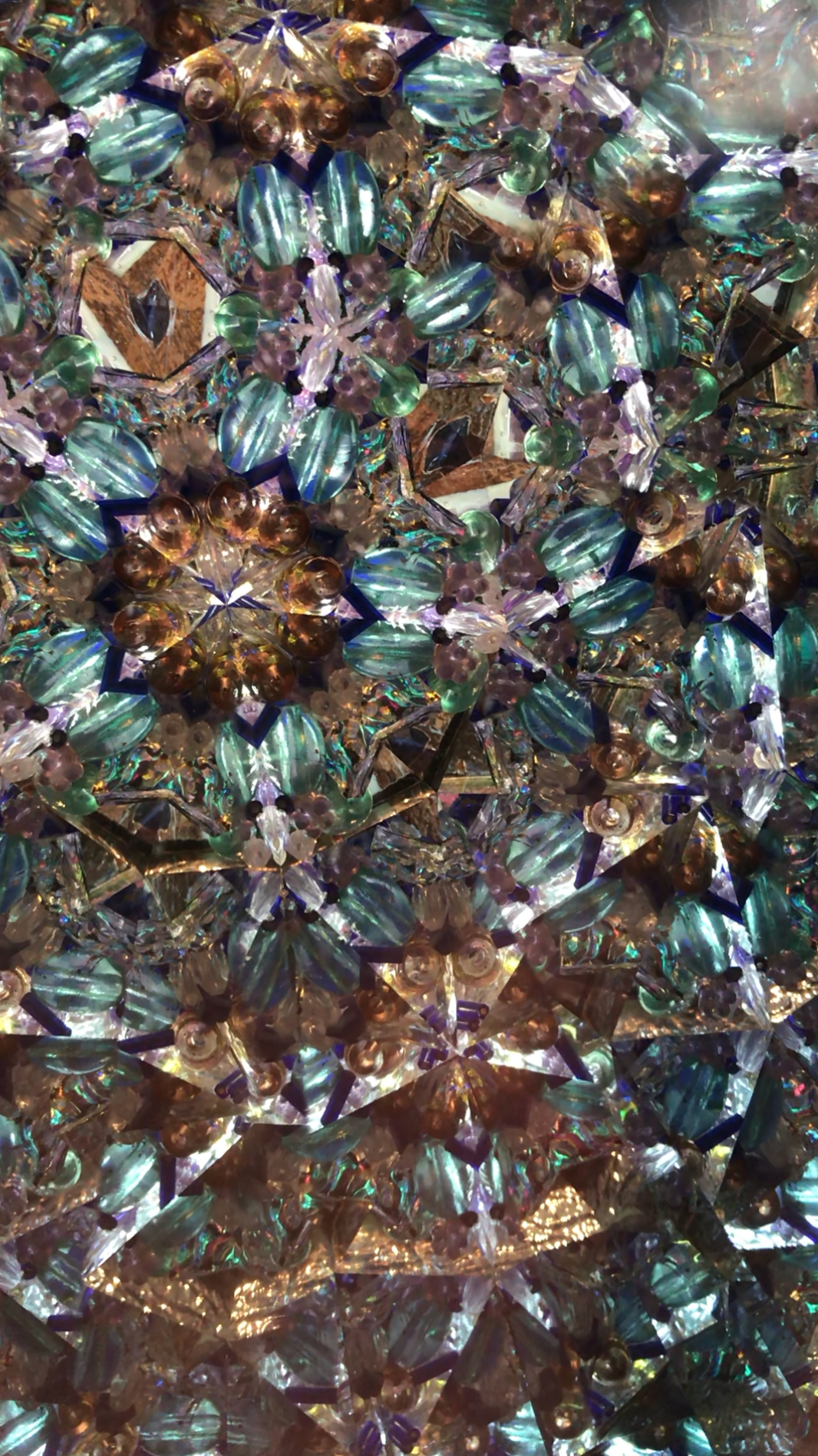 gold teal kaleidoscope