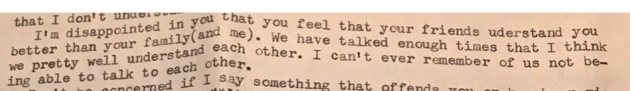 Old typed letter