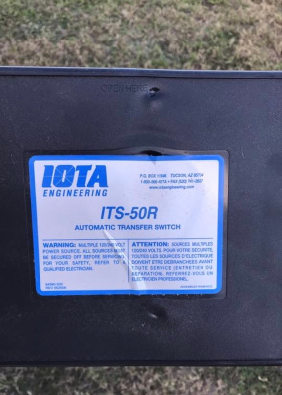 ITS-50R recalled generator automatic transfer switch