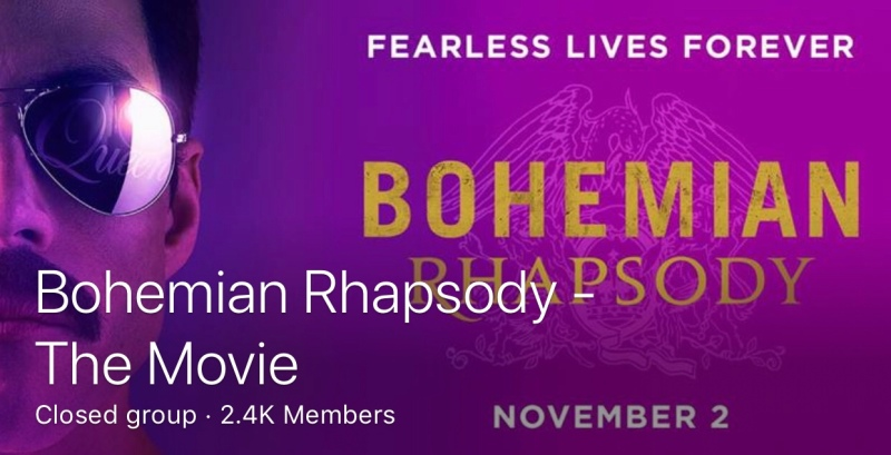 Screen capture of Bohemian Rhapsody Facebook group