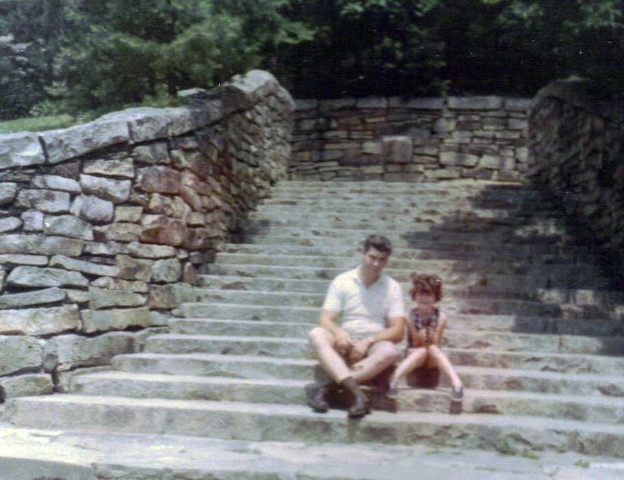 Dad and I on way to Virgina Beach first vacation 1968