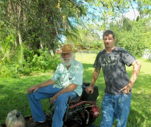 Dad and Matt in Fellsmere