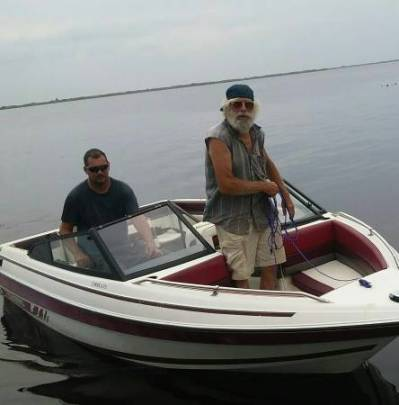 Dad and Matt in the boat dad moved the day he passed