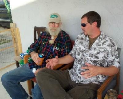 Dad and Matt maybe three years ago