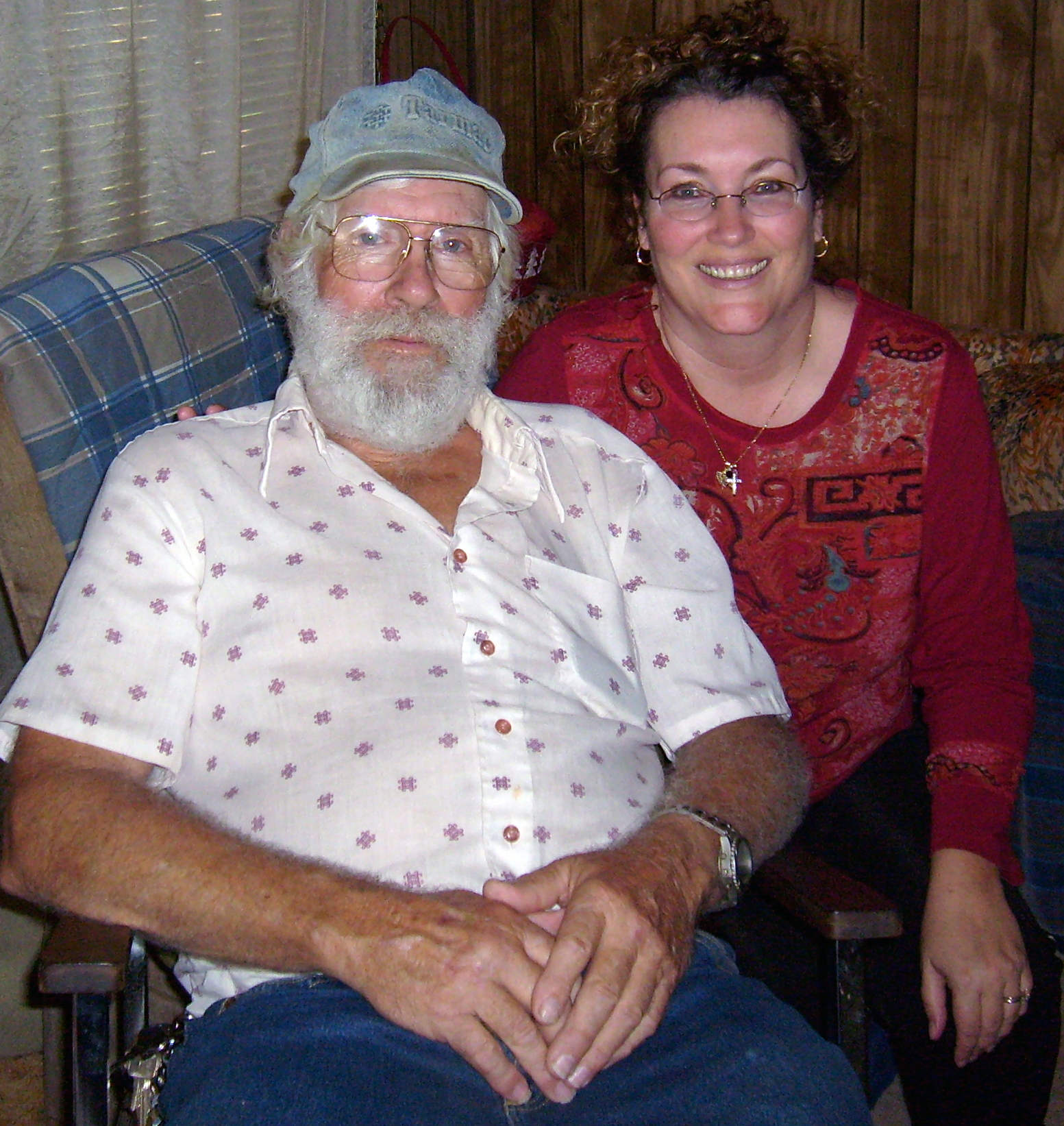 dad and sheila dec 2008