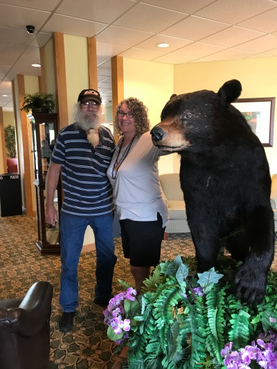 Dad and Sheila with the bear June 2017