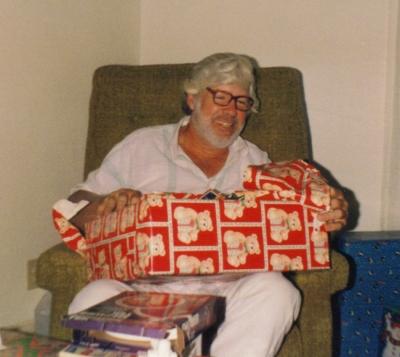 Dad at Christmas Daytona Beach 1992