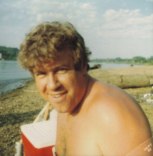 Dad at the river Sept 82