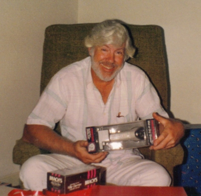 Dad great smile at Christmas maybe 1992