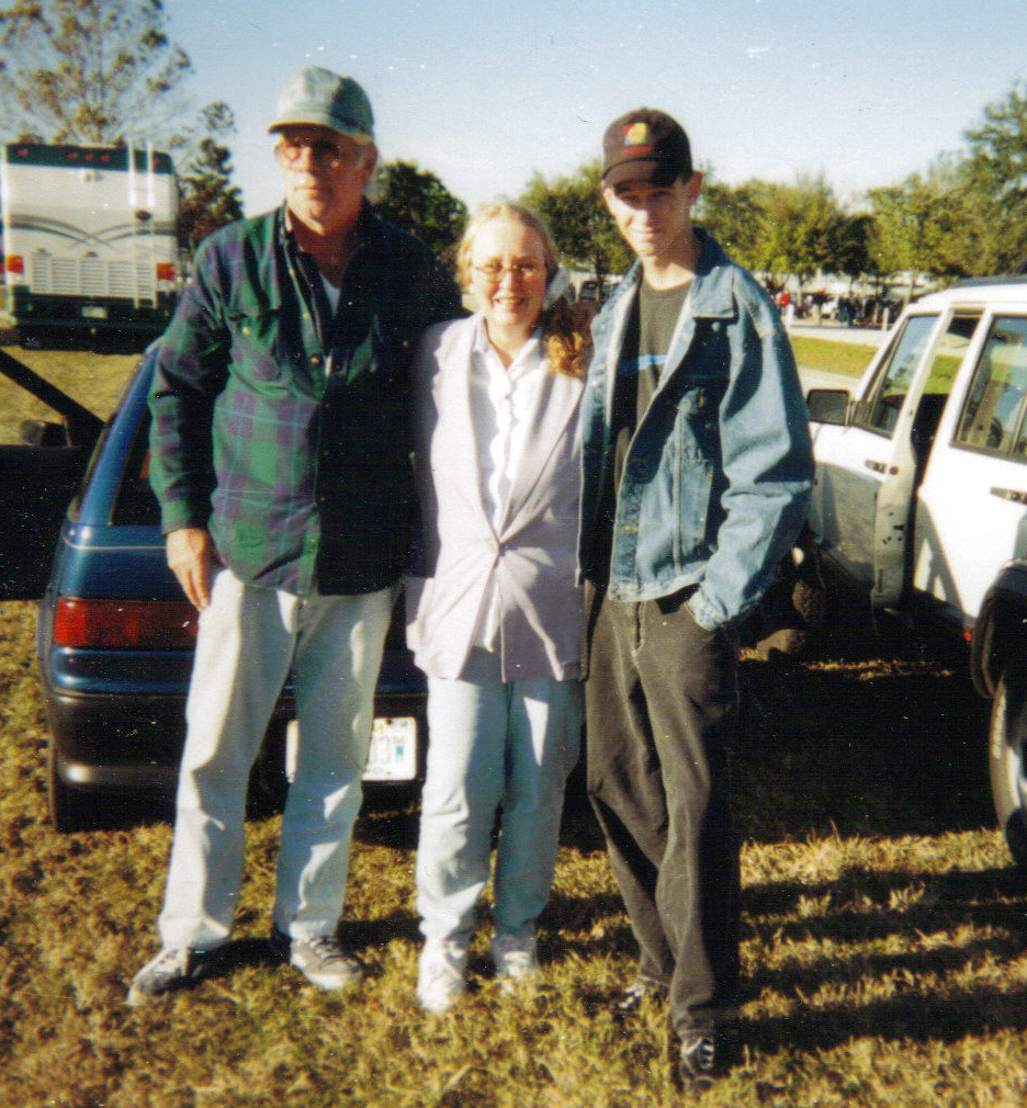 Dad mom and Matt at Daytona flea market 2000