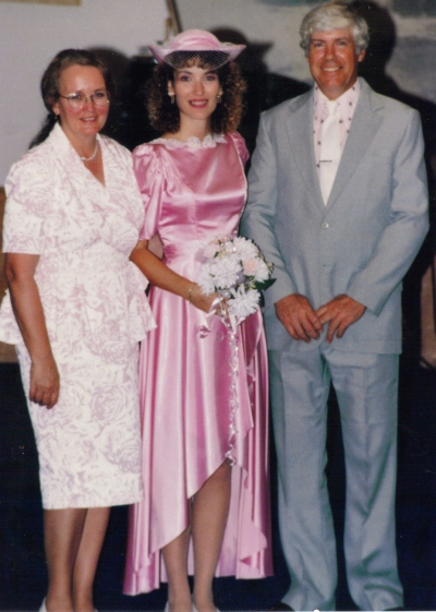 Dad mom and me at my second wedding maybe 1991