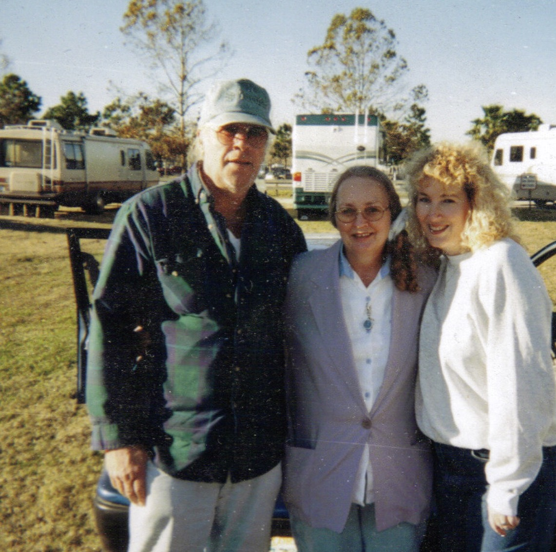 Dad mom and Sheila Daytona Beach flea market 2000