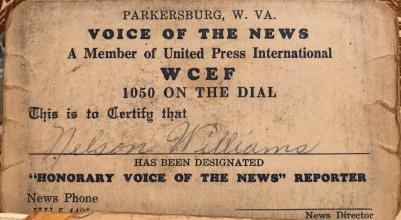 dad radio reporter card