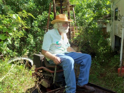 Dad sitting Fellsmere 2012
