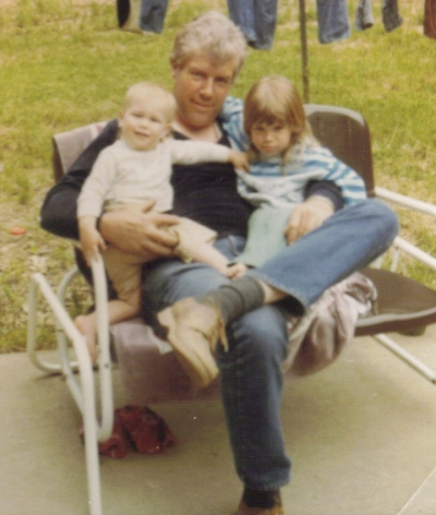Dad with Marie and Matt at Boaz house Jun 1983