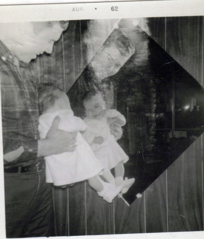 Daddy and Sheila at age 3 months