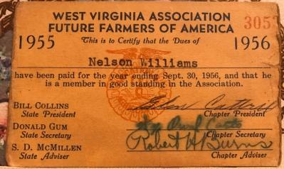 FFA card 1955 - Nelson