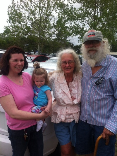 Marie Jennifer Mom and Dad at Daytona Beach flea market 2012