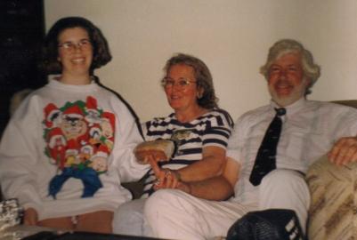 Marie mom and dad Christmas Daytona Beach 1992