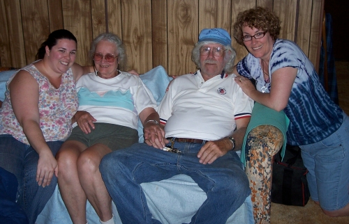 Marie Mom Dad and Sheila April 2010