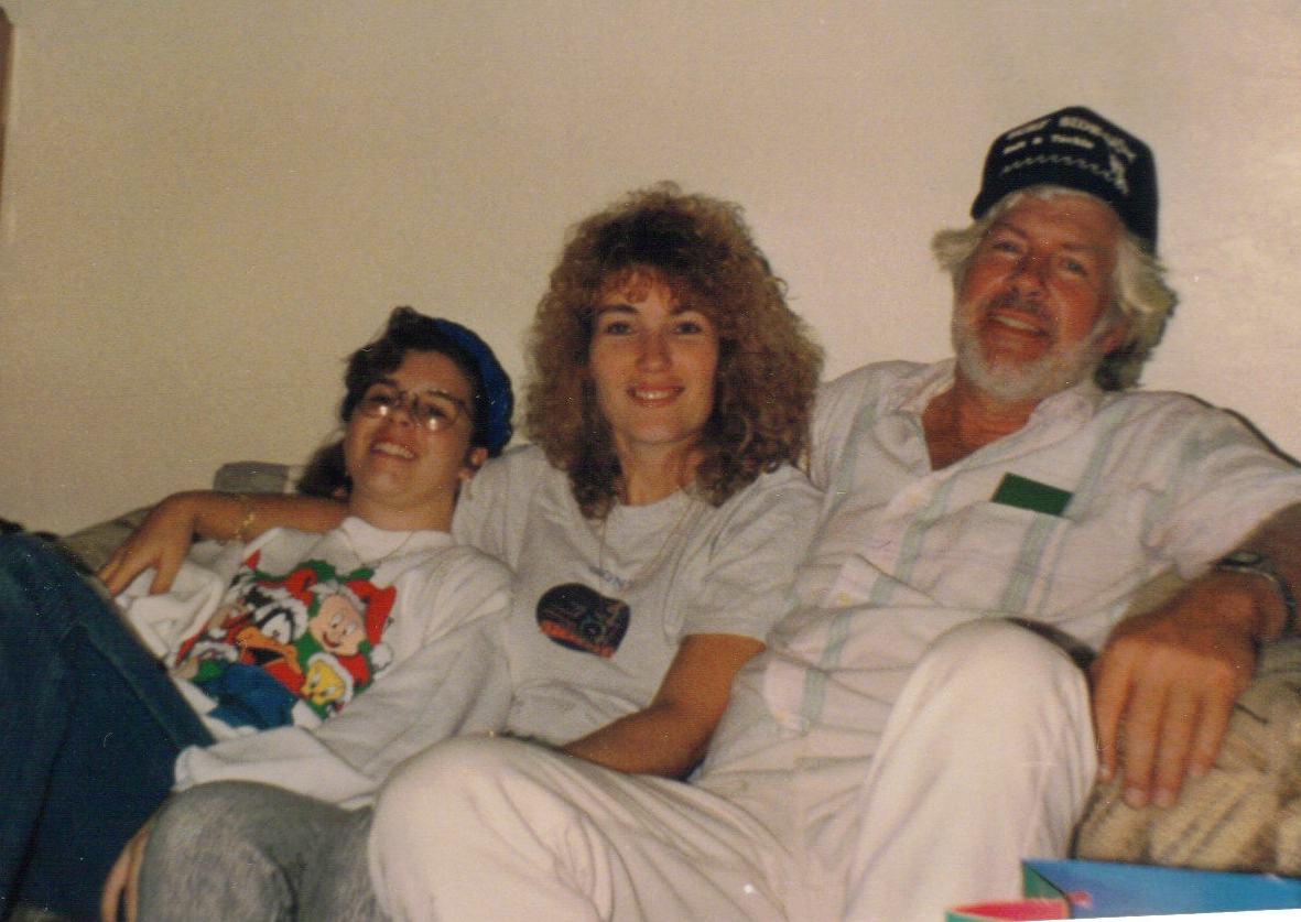 Marie Sheila and dad Christmas Daytona Beach 1992