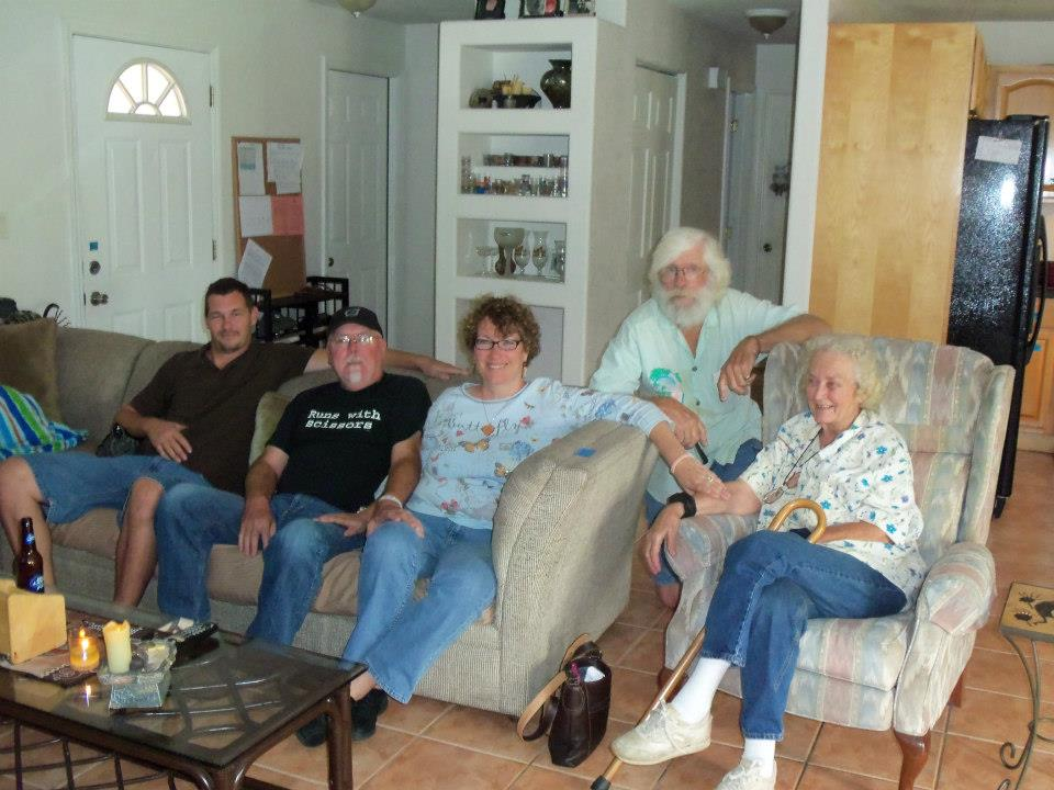 Matt Richard Sheila Mom and dad at Matts Oct 2012