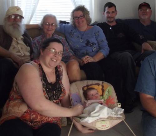 Visit dad first met his great granddaughter