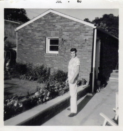 Dad at moms parents July 1960