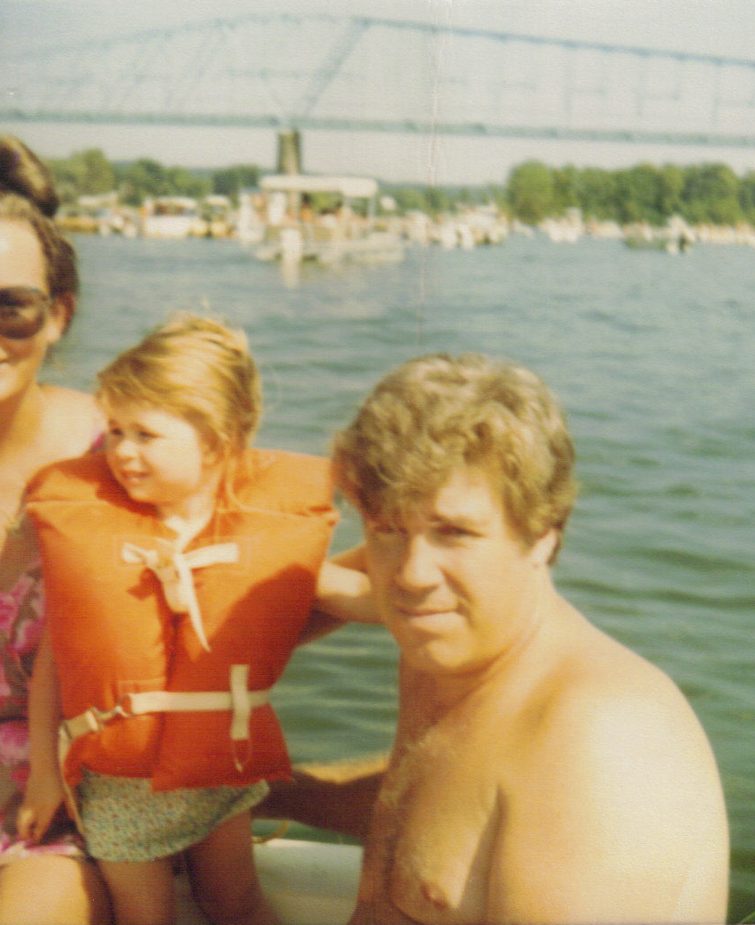 Dad mom and Marie and the Williamstown bridge 1984