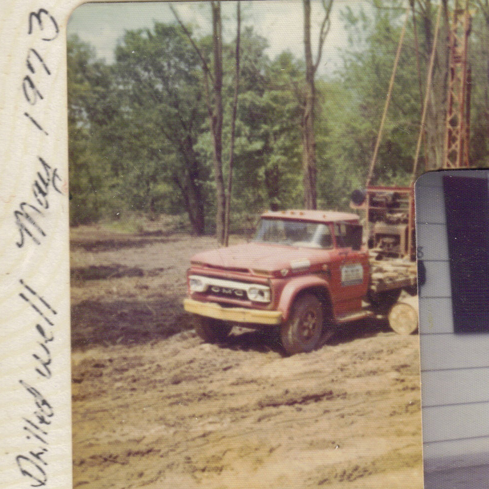 drilled well on Boaz property 1973