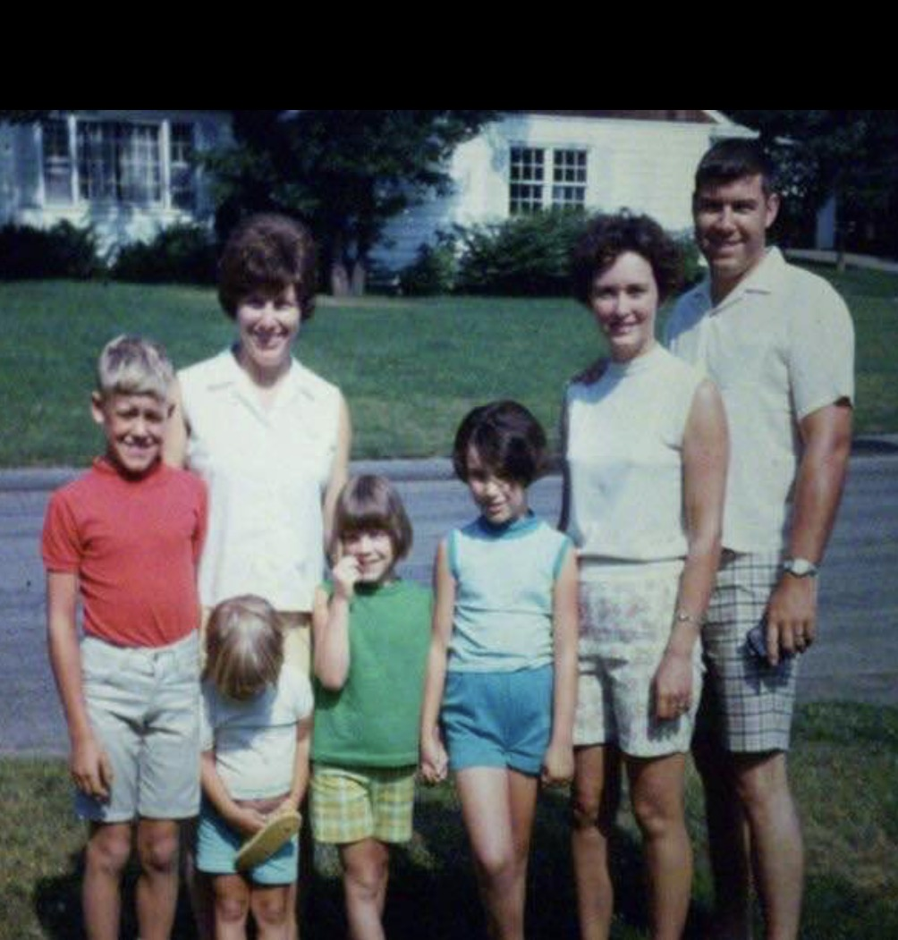 Freda Dad Mom me and my cousins 1967