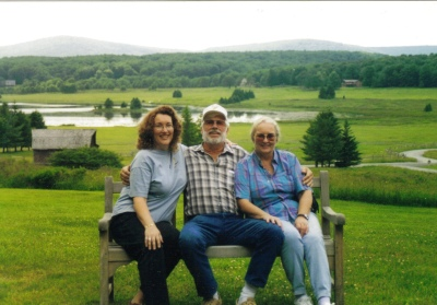 Mom Dad Sheila at Canaan Family Reunion 2001