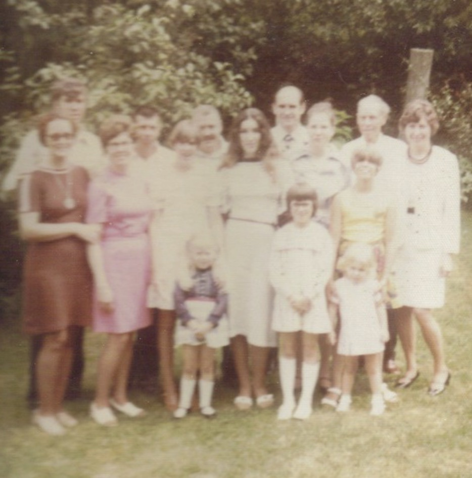 Williams family when grandmother died 1976